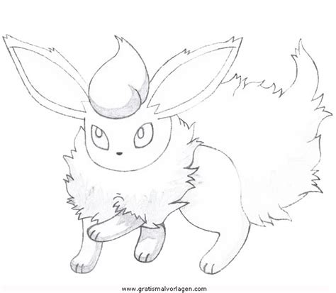 pokemon flamara  gratis malvorlage  comic
