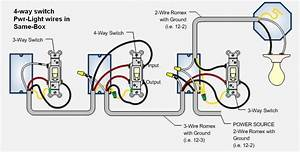 4 Way Switch Wiring Diagram Readingrat Net Inside Four