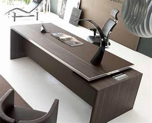 Bureau Contemporain Design : bureaux direction cuir bureaux cuir ubia mobilier de bureau ~ Teatrodelosmanantiales.com Idées de Décoration