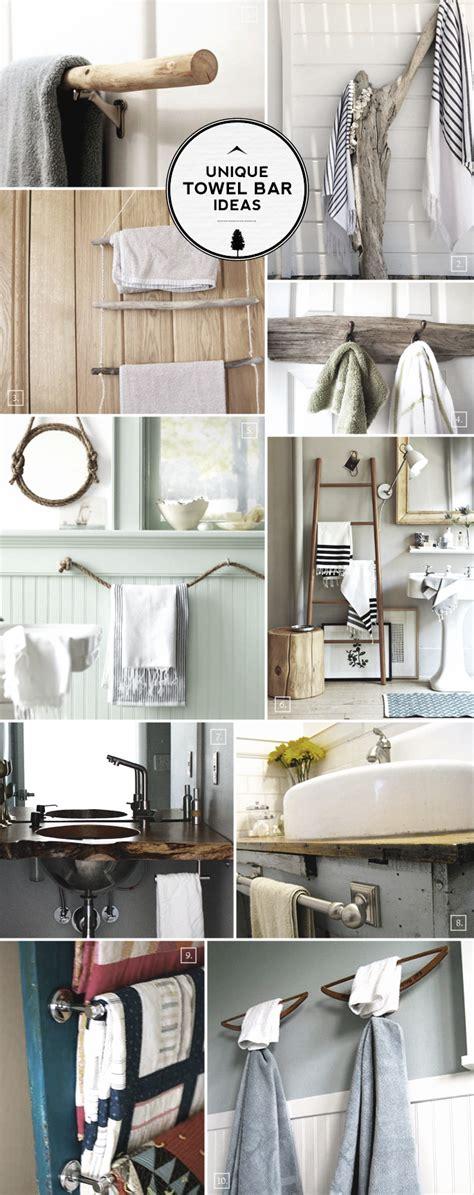 bathroom towel bar ideas unique ideas for bathroom towel bars and racks home tree