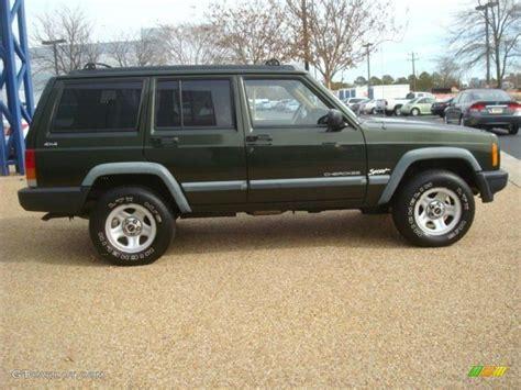 jeep cherokee green 2000 moss green pearl 1998 jeep cherokee sport 4x4 exterior