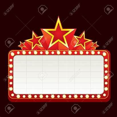 Sign Theatre Marquee Clipart Theater Neon Frame