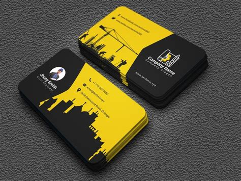 civil engineer business card design  images