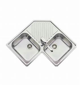 Evier Cuisine Encastrable : evier d 39 angle encastrable luisina 2 cuves 1 egouttoir ~ Premium-room.com Idées de Décoration