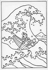 Hokusai Tsunami Kanagawa Muppet Muppets sketch template