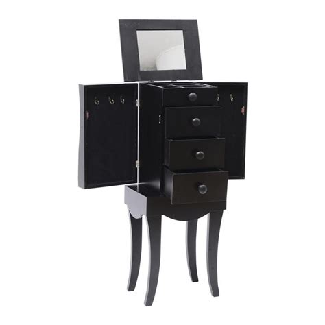 Black Standing Jewelry Armoire by Homcom 30 Quot Modern Standing Jewelry Storage Armoire W