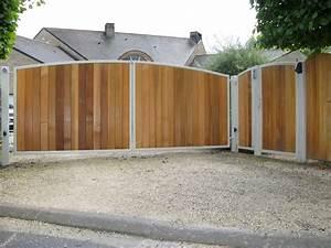 Portail En Bois : portail en fer forg acier ou inox portail motoris vdv ~ Premium-room.com Idées de Décoration