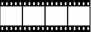 Clipart Movie Film Strip With Buttered Popcorn And Blue ...