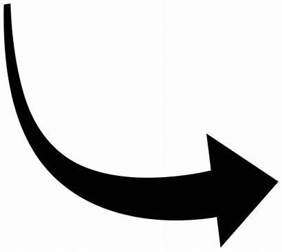 Arrow Vector Curved Transparent Svg Clipart Open