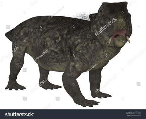 Lystrosaurus 3d Dinosaur Stock Illustration 211966681