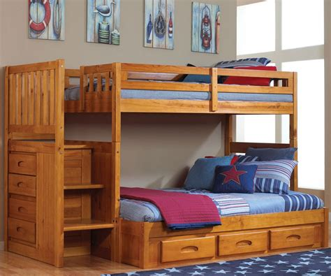full over desk bunk bed smartly discovery world furniture twin over full honey