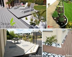 deco bordure terrasse With delightful amenagement terrasse et jardin 13 terrasse piscine galets