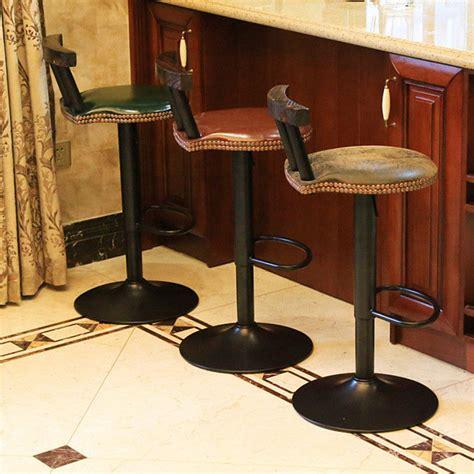 retro swivel bar stools with backs vintage industrial retro rustic swivel cafe chiar counter 9247