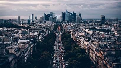 Road Traffic Paris France Laptop Background 1080p