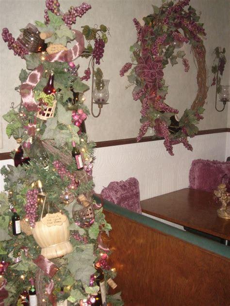 wine themed christmas tree wine theme pinterest