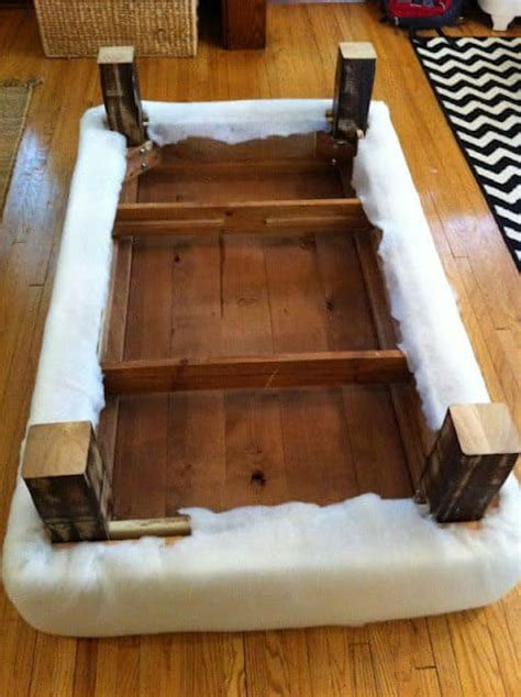 turn  coffee table   ottoman diy cozy home