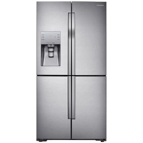 Samsung Cabinet Depth Refrigerator Door by Shop Samsung Flexzone 22 5 Cu Ft 4 Door Counter Depth