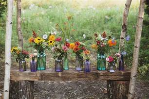 wildflower wedding of a vintage lover hummingbird and wildflower wedding