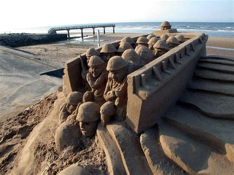 defense gov news article sand sculptures move normandy visitors to tears
