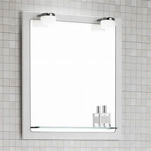 Spiegel 40 X 50 : dansani mido spiegel mit rahmen glasablage und led beleuchtung 50x7 ~ Bigdaddyawards.com Haus und Dekorationen