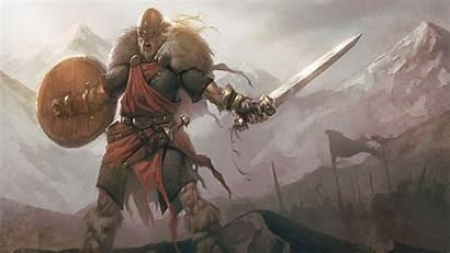 Viking Screaming Sword Warrior Wallpapers Skofnung Desktop