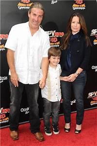 Holly Marie Combs, David Donoho, and Finley Donoho ...