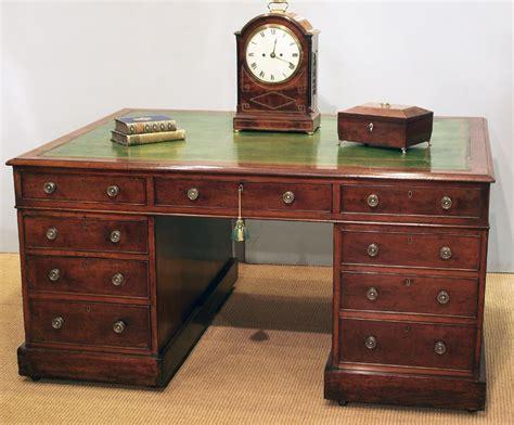 bureau desk uk antique mahogany partners desk antique pedestal pesk