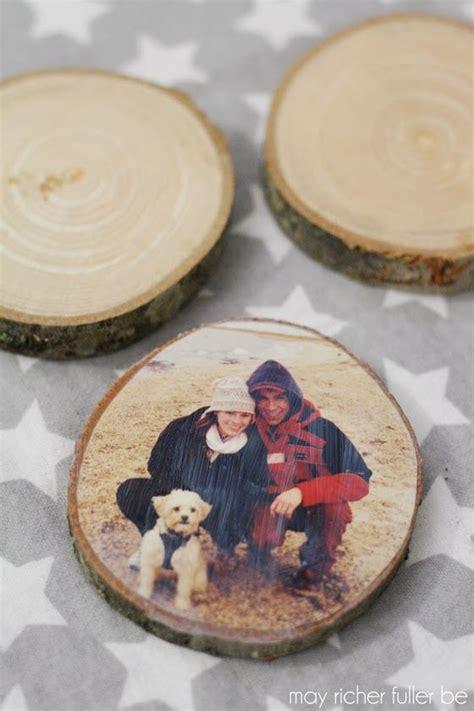 wood slice ornaments  christmas fun photo