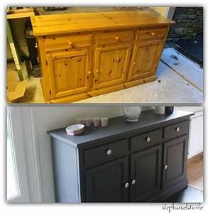 Deco bricolage bahut en pin recup39 et repeint for Deco cuisine pour meuble en pin