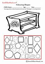 Shapes Colouring Rectangles Rectangle Coloring sketch template