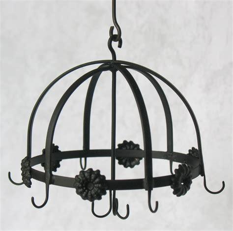 wrought iron hanging pot rack 54