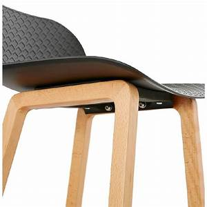 Tabouret Mi Hauteur : tabouret de bar chaise de bar mi hauteur scandinave scarlett mini noir ~ Teatrodelosmanantiales.com Idées de Décoration