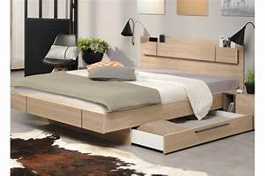 Lit 1 Personne Avec Rangement : lit 2 places avec rangement novomeuble ~ Teatrodelosmanantiales.com Idées de Décoration