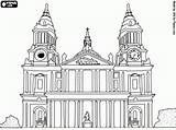 Paul Coloring Cathedral Britain Landmarks London Saint Catedral Pauls Colour Oncoloring Europe History Games Descubre Sobre Colorear Adult sketch template