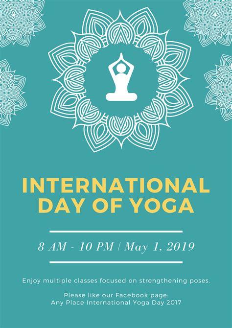 international day  yoga posters design  custom