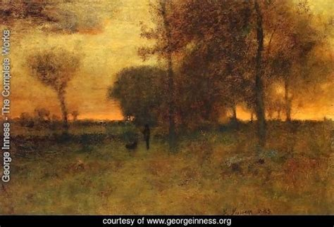 george inness  complete works sunset glow georgeinnessorg
