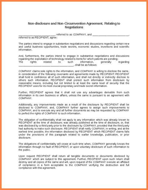 Non Circumvention Non Disclosure Agreement Template by 4 Non Circumvention And Non Disclosure Agreement