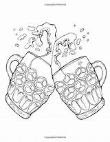 Coloring Books Adult Beer Sports Spirits sketch template