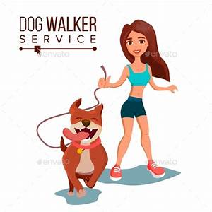 Dog Walking Service Vector by pikepicture | GraphicRiver