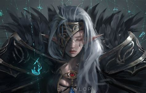 Wallpaper Girl, Magic, Elf, Anime, Warrior, Armor, Dungeon