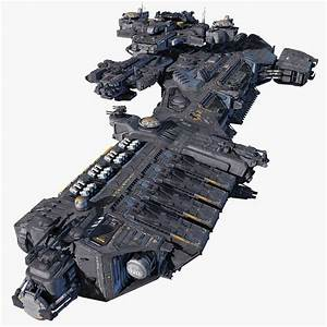 3d spacecraft carrier model