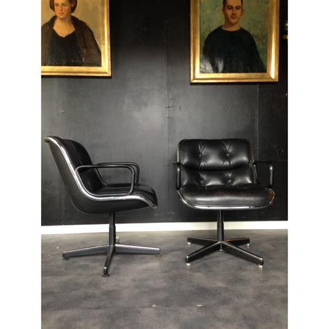 fauteuil de bureau vintage charles eames style vintage brown back ribbed office chair