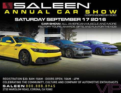 20th Annual Saleen Car Show And Open House