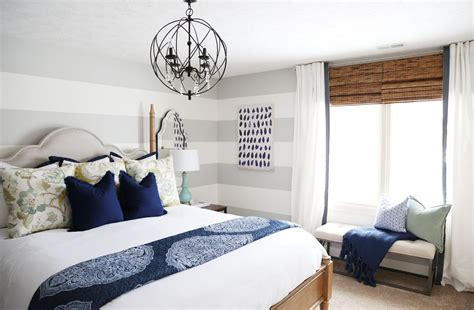 Bedroom Makeovers : Serene Blue Guest Bedroom Makeover Reveal