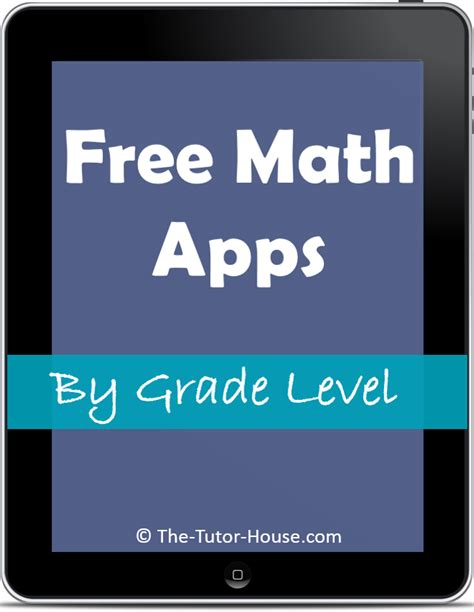 Free Math Apps By Grade Level  The Tutor Coach