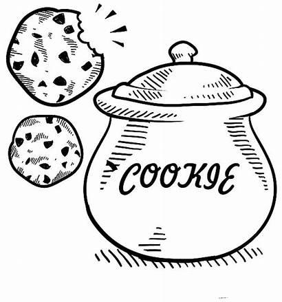Cookie Jar Coloring Pages Sketch Cookies Drawing