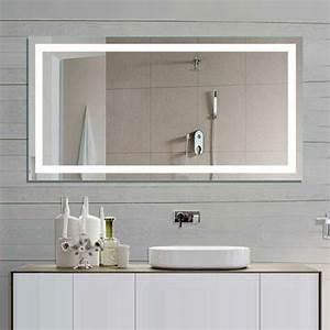 Ou trouver le meilleur miroir de salle de bain avec for Miroir bandeau lumineux salle de bain