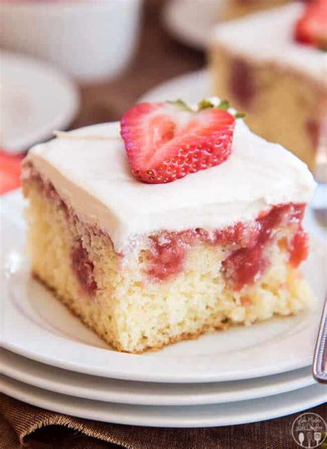 strawberries  cream poke cake   blog recipes