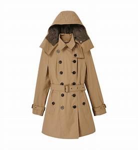 Trench Femme Avec Capuche : trench coat capuche avec gilet int rieur burberry en beige pour femme galeries lafayette ~ Farleysfitness.com Idées de Décoration