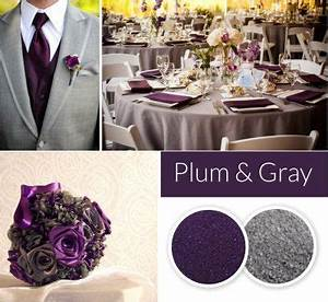 Plum And Gray Wedding Colors Fall And Winter Wedding